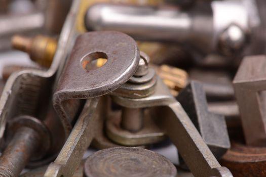 old vintage metal detail close up