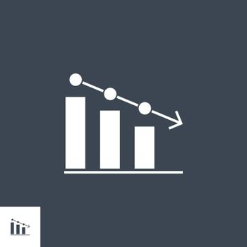 Bar Chart related vector glyph icon. Isolated onblack background. Vector illustration.