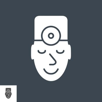 Doctor Glyph Vector Icon. Isolated on the Black Background. Editable EPS file. Vector illustration.