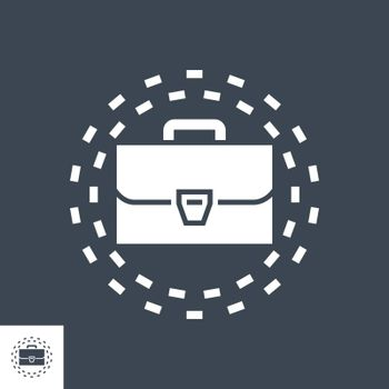 Portfolio Related Vector Glyph Icon. Isolated on Black Background. Vector Illustration.
