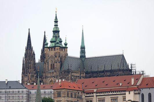 Prague, Czech Republic on july 8, 2020; Prague cityscape. Skylin