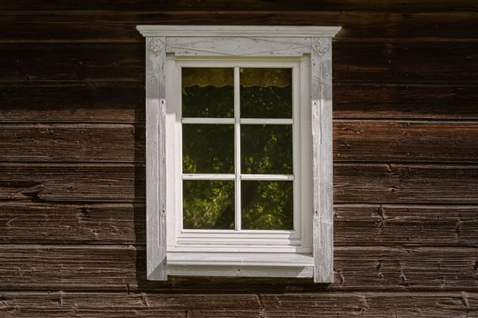 Window of an old house in countryside