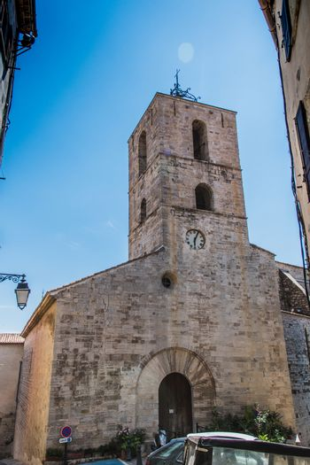 Old Romanesque church in the city center of Hyères