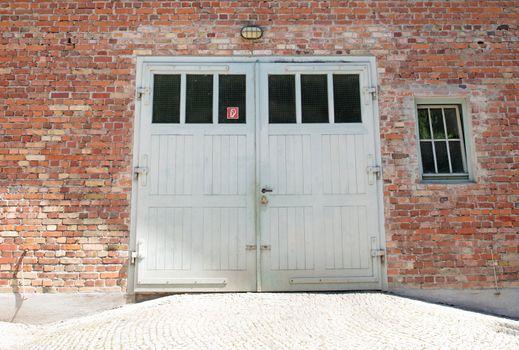 Dachau, Bavaria, Germany - July 13, 2020: Building of the cremat
