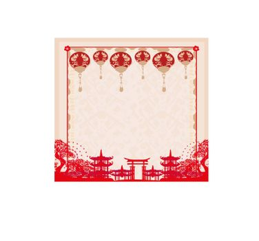 Mid-Autumn Festival for Chinese New Year card