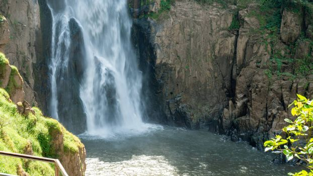Picture of the waterfall from the middle of the forest At Khao Yai National Park, Thailand, a World Heritage Site