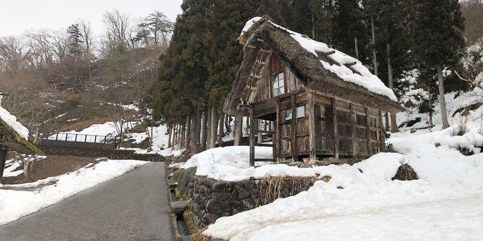 Traditional house in Shirakawago, Gifu Prefecture, Japan