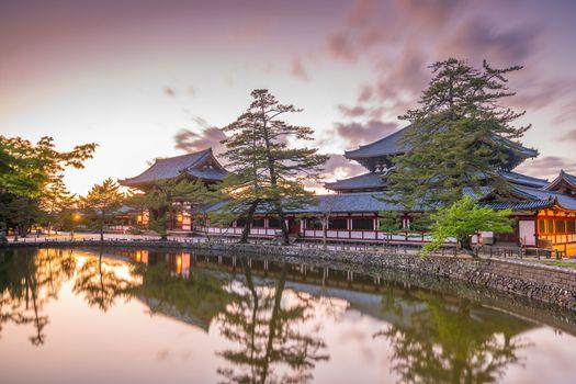Todaiji Temple in Nara, Japan at sunset