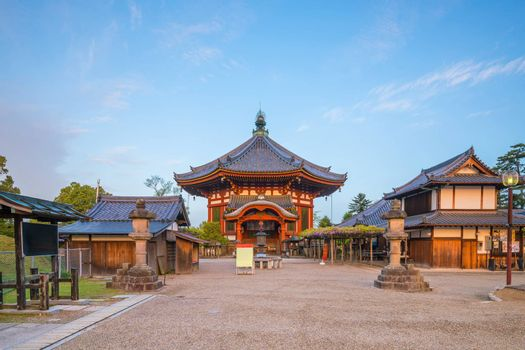 The octagonal hall of temple in Nara