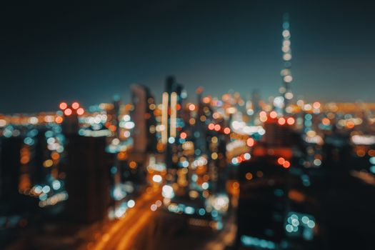 Bokeh Background of a Night City