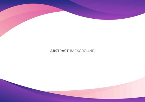 Abstract business template pink and purple gradient wave or curved shape isolated on white background with space for your text. Vector illustration