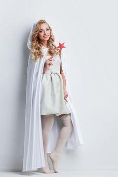 Fairy woman with star magic wand