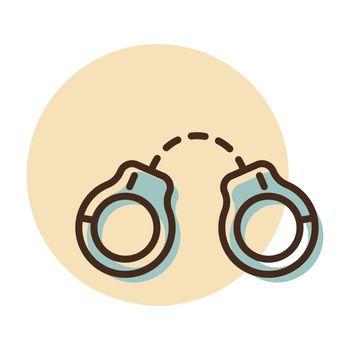 Handcuffs vector icon. Police sign