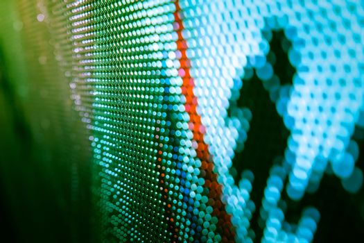 CloseUp LED blurred screen. LED soft focus background. abstract