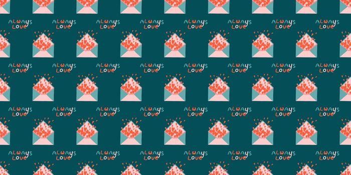 Seamless romantic pattern. Valentine's day background