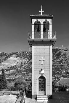 Orthodox church belfry on the island of Kefalonia