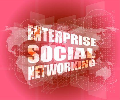 enterprise social networking, interface hi technology, touch screen