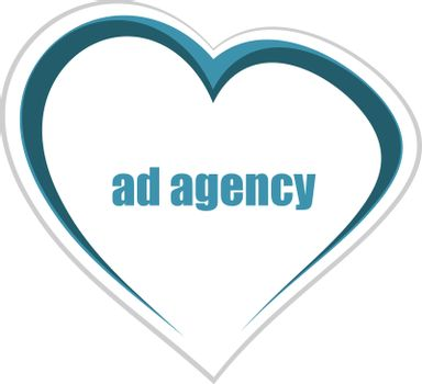 Text Ad agency. Management concept