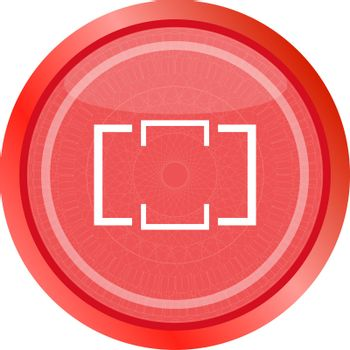 Folder icon web button isolated on white