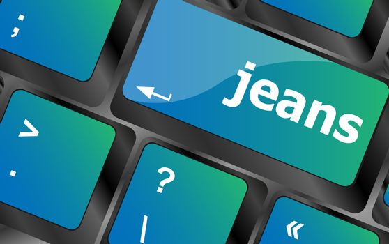 jeans word on computer keyboard pc key