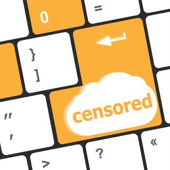 censored word on computer keyboard pc key