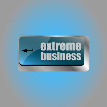 extreme business words, message on enter key of keyboard