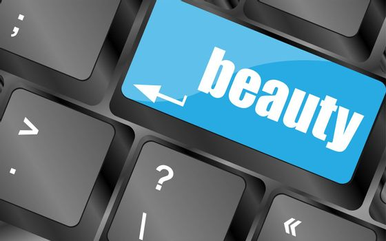 enter keyboard key button with beauty word on it