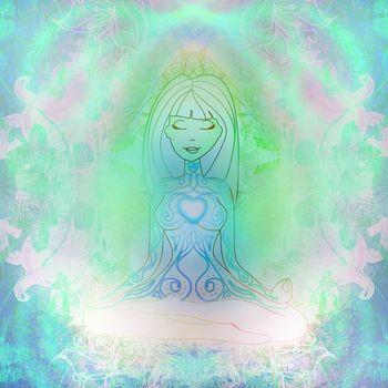 Yoga woman and Spirituality