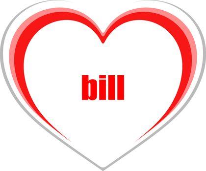 Text bill. Business concept
