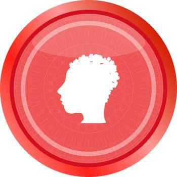 idea people head circle glossy wen icon