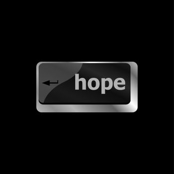 Computer keyboard with hope key on it