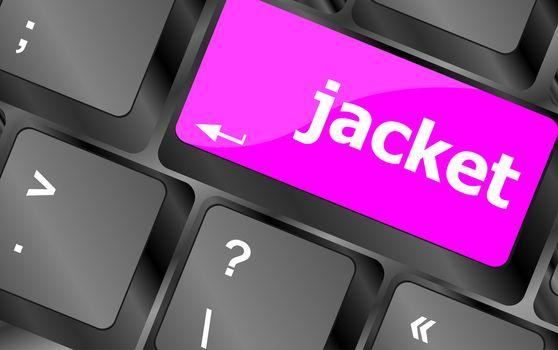 jacket word on computer keyboard pc key