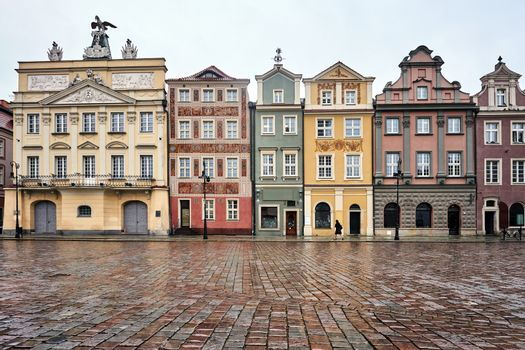 facades of historic tenements on the Old Market Square