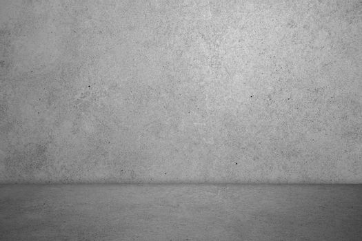 Empty room with cement concrete background, floor and wall, deta