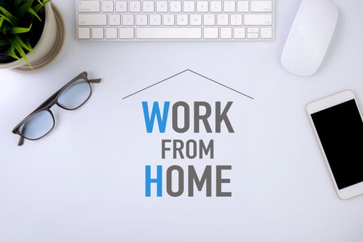 Work from home concept, protection pandemic of covid-19 with qua