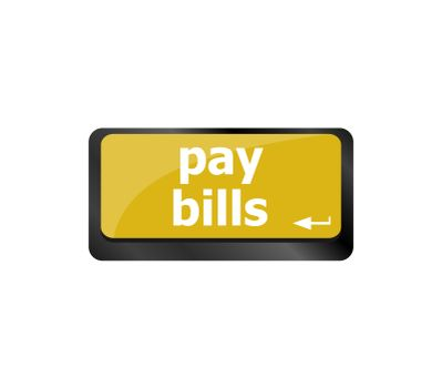 pay bills button on the computer keyboard key