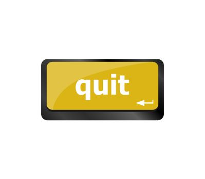 quit button on internet computer keyboard key