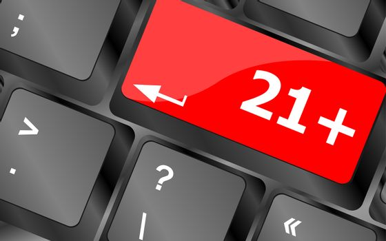 21 plus button on computer keyboard keys