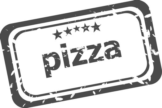 Pizza grunge rubber stamp isolated on white background