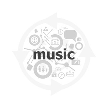 Text Music on digital background. Social concept . Icon and button set