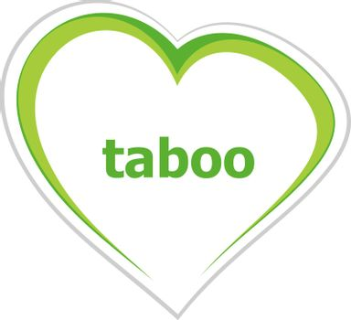 Text Taboo. Security concept