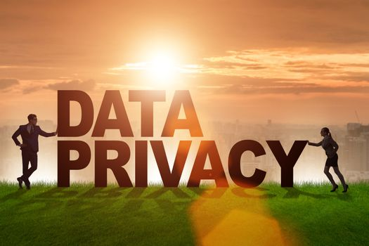 Data privacy concept in modern IT technology