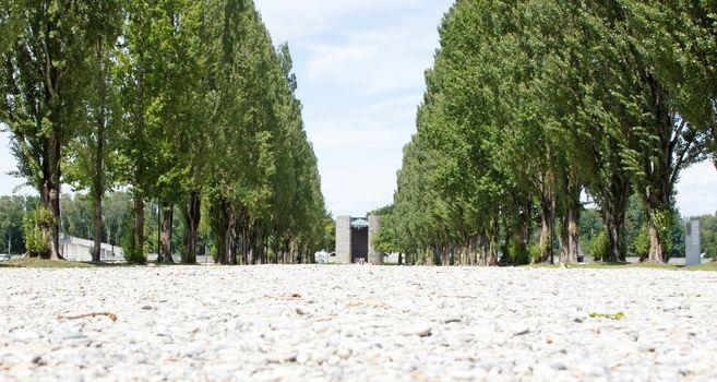 Dachau, Germany - July 13, 2020: Dachau concentration camp, the