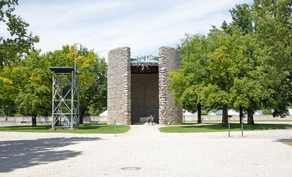 Dachau, Bavaria, Germany - july 13, 2020: The Church of the Mort