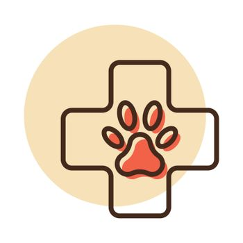 Veterinary vector icon. Pet animal sign