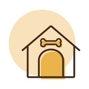 Dog house vector icon. Pet animal sign