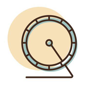 Hamster wheel vector icon. Pet animal sign