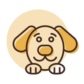 Dog vector icon. Pet animal sign