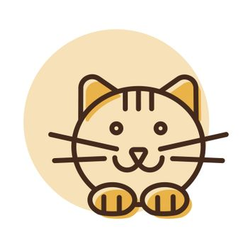 Cat vector icon. Pet animal sign
