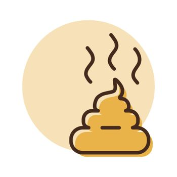 Pile of poo vector icon. Pet animal sign